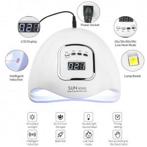 Lampa UV/LED  SUN X5 MAX, 45 LED-ur, Putere 80W HN207