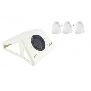 Colector praf unghii  (aspirator praf unghii) profesional HotNails cu 1 ventilator 65W + 3 saci MARI de rezerva HN305