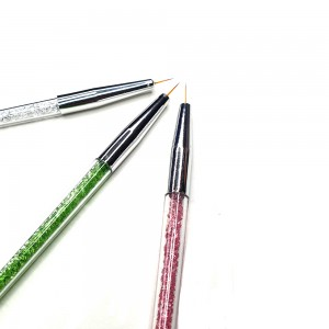 Set 3 pensule pictura varf - 7, 9 si 11 mm HotNails HN727