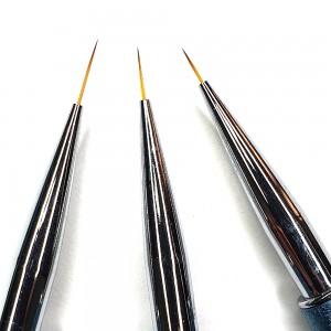 Set 3 pensule pictura varf - 7, 9 si 11 mm HotNails HN729